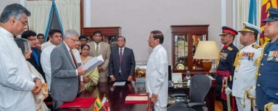 Ranil Wickremesinghe sworn in as PM